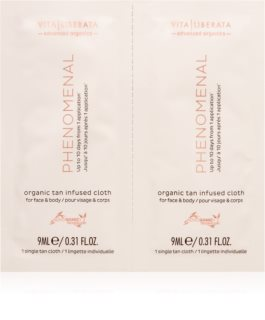 Vita Liberata Phenomenal Organic Tan Infused Cloths Itseruskettava Liina