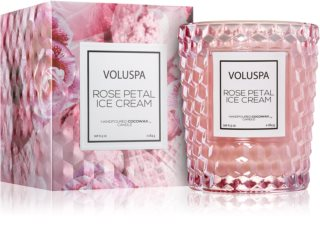 VOLUSPA Roses Rose Petal Ice Cream dišeča sveča