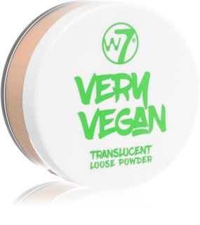 W7 Cosmetics Very Vegan Sheer pó transparente matificante