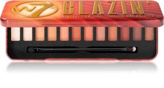 W7 Cosmetics Blazin' палитра от сенки за очи
