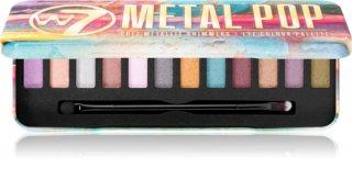 W7 Cosmetics Metal Pop палітра тіней для повік металік