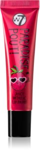 W7 Cosmetics Paradise Pout! rtěnka smetalickým efektem