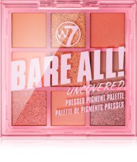 W7 Cosmetics Bare All paleta očních stínů