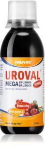 Walmark Uroval MEGA brusinka sirup forte prevence proti urologickým potížím