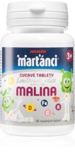 Walmark Marťánci cucavé tablety malina multivitamin pro děti