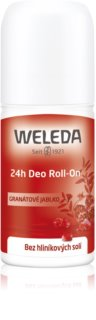 Weleda Pomegranate desodorante roll-on sin sales de aluminio 24h