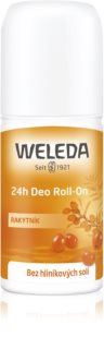 Weleda Sea Buckthorn déodorant roll-on sans sels d'aluminium protection 24h