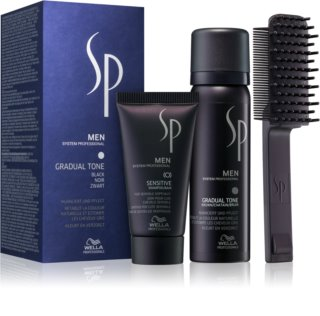 Wella Professionals SP Men Kosmetik-Set  Black (für graues Haar) für Herren