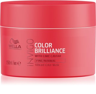 Wella Professionals Invigo Color Brilliance masque hydratant pour cheveux fins à normaux
