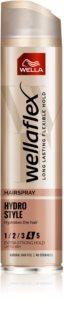Wella Wellaflex Hydro Style lak za lase z ekstra močnim utrjevanjem ki dodaja hidracijo in sijaj