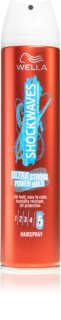 Wella Shockwaves Ultra Strong Power Hold Extra Strong Fixating Hairspray