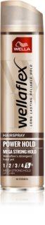 Wella Wellaflex Power Hold Form & Finish Haarspray mit extra starkem Halt für natürliche Fixation