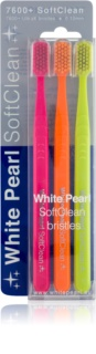 White Pearl 7600+ SoftClean brosses à dents soft 3 pcs