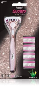 Wilkinson Sword Quattro for Women Rose Gold Ladyshaver   + Ekstra blade 4 stk