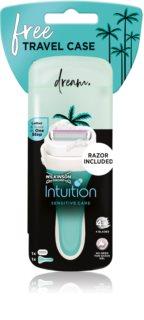 Wilkinson Sword Intuition Sensitive Care travel case utazó borotva készlet tartalék pengék 1 db