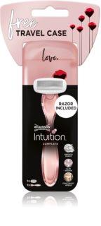 Wilkinson Sword Intuition Complete Travel Case компактна бритва для подорожей Змінні картриджі 1 шт