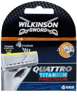 Wilkinson Sword Quattro Titanium Precision lames de rechange 4 pièces