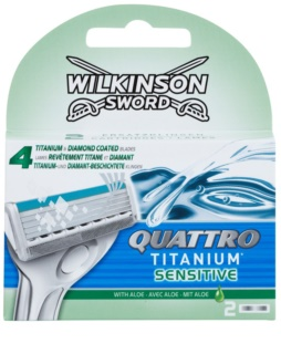 Wilkinson Sword Quattro Titanium Sensitive Vervangende Open Messen
