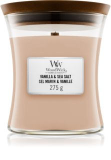 Woodwick Vanilla & Sea Salt scented candle Wooden Wick