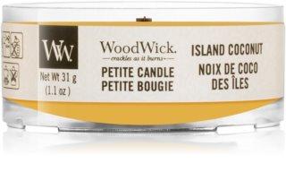 Woodwick Island Coconut bougie votive avec mèche en bois