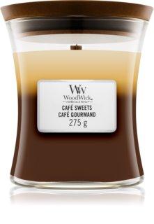 Woodwick Trilogy Café Sweets bougie parfumée avec mèche en bois