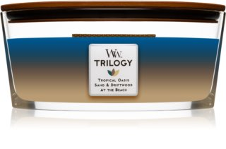 Woodwick Trilogy Nautical Escape candela profumata con stoppino in legno (hearthwick)