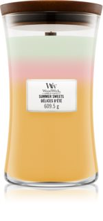 Woodwick Trilogy Summer Sweets scented candle Wooden Wick