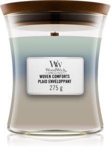 Woodwick Trilogy Woven Comforts aроматична свічка з дерев'яним гнітом