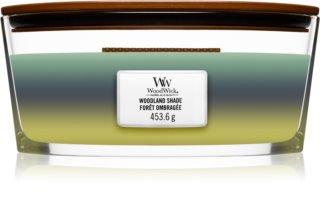 Woodwick Trilogy Woodland Shade aроматична свічка з дерев'яним гнітом (hearthwick)