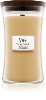 Woodwick At The Beach bougie parfumée avec mèche en bois