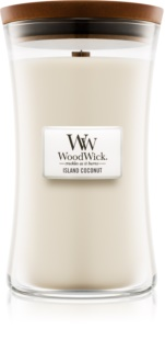 Woodwick Island Coconut scented candle Wooden Wick