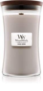 Woodwick Wood Smoke vela perfumada com pavio de madeira