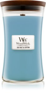 Woodwick Sea Salt & Cotton scented candle Wooden Wick