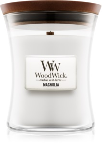 Woodwick Magnolia vela perfumada com pavio de madeira
