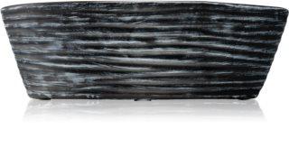 Woodwick Black Shell Black Cherry geurkaars met een houten lont (hearthwick)