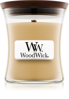 Woodwick At The Beach geurkaars met een houten lont