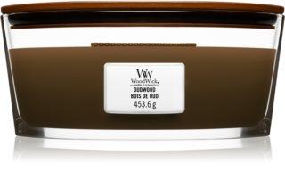 Woodwick Oudwood vela perfumada com pavio de madeira (hearthwick)