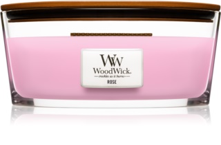 Woodwick Rose scented candle wooden wick (hearthwick)