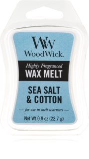 Woodwick Sea Salt & Cotton tartelette en cire