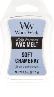 Woodwick Soft Chambray vosk do aromalampy