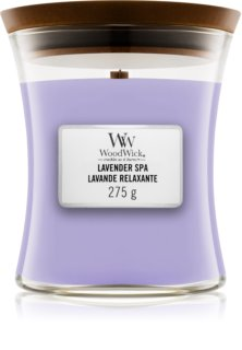 Woodwick Lavender Spa scented candle Wooden Wick