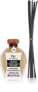Woodwick Flamless Island Coconut aroma difuzér s náplní