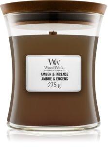 Woodwick Amber & Incense Duftkerze mit Holzdocht