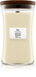 Woodwick White Teak scented candle Wooden Wick
