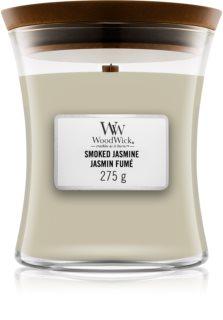 Woodwick Smoked Jasmine ароматна свещ  с дървен фитил