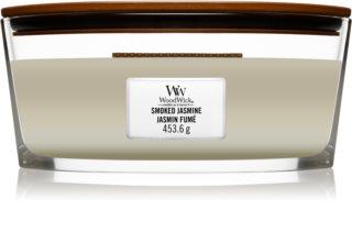 Woodwick Smoked Jasmine mirisna svijeća s drvenim fitiljem (hearthwick)