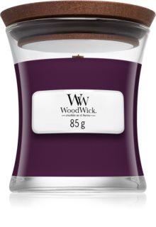 Woodwick Dark Poppy vela perfumada com pavio de madeira