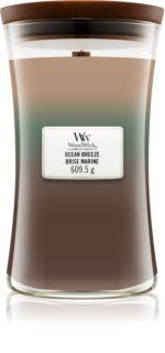 Woodwick Trilogy Ocean lumânare parfumată  cu fitil din lemn