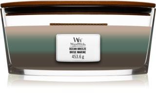 Woodwick Trilogy Ocean lumânare parfumată  cu fitil din lemn (hearthwick)