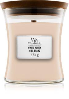 Woodwick White Honey aроматична свічка з дерев'яним гнітом